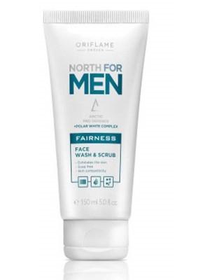 ORIFLAME MEN'S SKIN CARE North For Men Fairness Face Wash & Scrub 150 ML