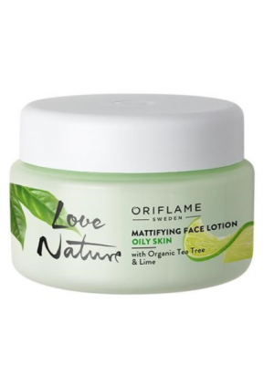 ORIFLAME LOVE NATURE Mattifying Face Lotion with Organic Tea Tree & Lime 50 ML