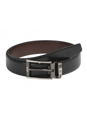 Titan Black & Brown Reversible Belt with Pin Buckle for Men