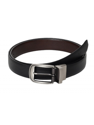 Titan Black & Brown Reversible Belt with Pin Buckle for Men-TB185LM4R2X