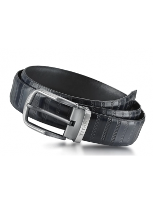 Titan Bicolour Genuine Leather Belt Black & Brown Single Sided Belt for Men-TB201LM4BUX