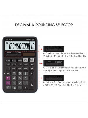 Casio JJ-120D Plus 300 Steps Check & Correct Desktop Calculator with On Display Indication of Active Constant