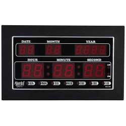 Ajanta Quartz Digital Red LED Rectangle Wall Clock  (34 cm x 20 cm x 4 cm)- OLC - 307