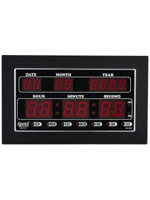 Ajanta Quartz Digital Red LED Rectangle Wall Clock  (34 cm x 20 cm x 4 cm)- OLC - 307