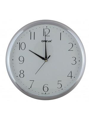 Ajanta Quartz Silver Ring Plastic Wall Clock (28 cm x 36.5 cm x 28 cm, Silver)  AQ-1937