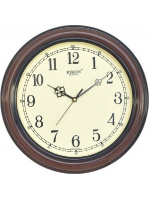 Rikon Plastic Wall Clock (Brown Ivory_30 x 30 cm)