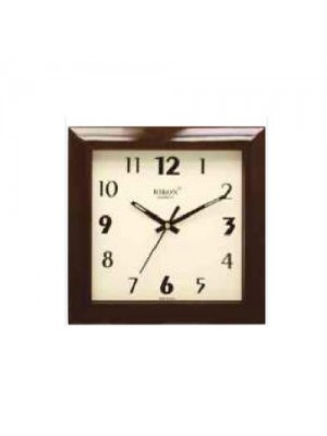 Rikon Brown,White 3551 PL Square Wall Clock, For Home, Size: 215 X 215 Mm