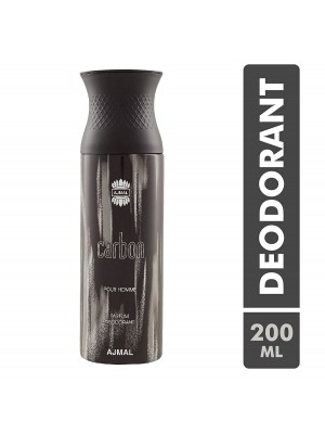 Ajmal Carbon Parfum Deodarant For Men (200ml)