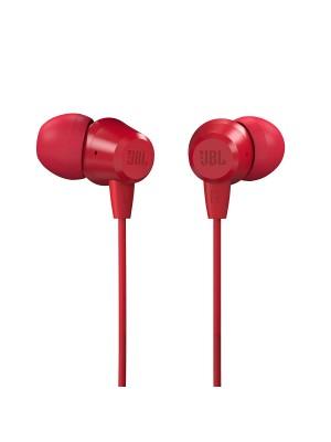 JBL T50HI in-Ear Headphones with Mic Red