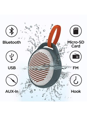 GIZMORE MS506 Portable 6W Bluetooth Speaker with HD Surround Sound, IPX6 Waterproof and TWS Function