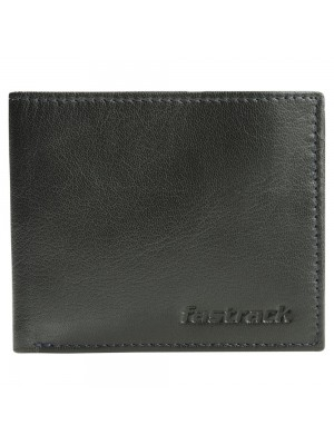 Fastrack Black Leather Bifold Wallet for Boys-C0370LBK01