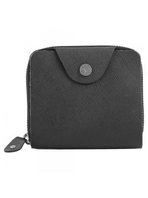 Fastrack Black Leather Bifold Wallet for Guys-C0397LBK01