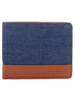 Fastrack Brown Leather & Denim Bifold Wallet for Mens-C0410LTN01