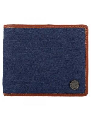 Fastrack Brown Leather & Denim Bifold Wallet for Guys-C0411LTN01