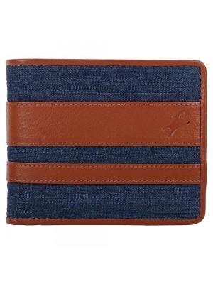 Fastrack Brown Leather & Denim Bifold Wallet for Guys-C0413LTN01