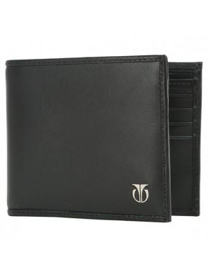 Titan  Black Leather Bifold Wallet for Men-TW112LM2BK