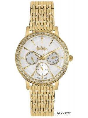 Lee Cooper Round Analog White Dial Ladies Watch-LC06375120