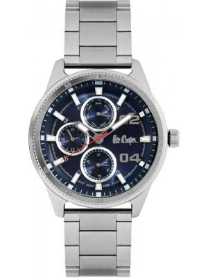 Lee Cooper Dark Blue Dial Multifunction Stainless Steel Srtap Watch For Men-LC06593390