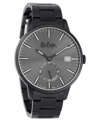 Lee Cooper Grey Dial Analog Watch & Black Stainless Steel Strap for Men-LC06693660