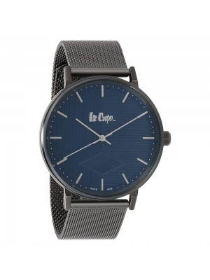 Lee Cooper Blue Dial Analog Watch & Black Stainless Steel Strap for Men-LC06827090
