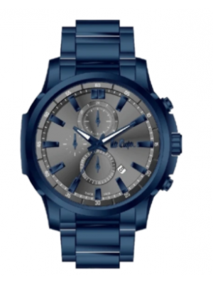Lee Cooper Grey Dial Multifunction Blue Stainless Steel Strap Watch for Men- LC06846960