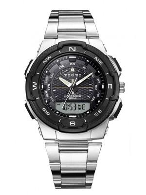 Maxima Analog-Digital Black Dial Men's Watch-52050CPAN