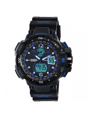 Maxima Analog-Digital Multi-Colour Dial Watch & Black Silicone Strap For Men-59330PPAN