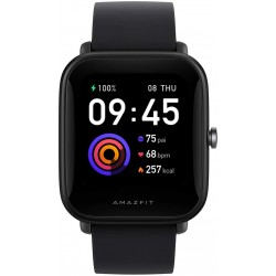 "Amazfit Bip U Smart Watch, SpO2 & Stress Monitor, 1.43"" HD Color Display, 60+ Sports Modes, Breathing Training, 50+ Watch Faces (Black)"