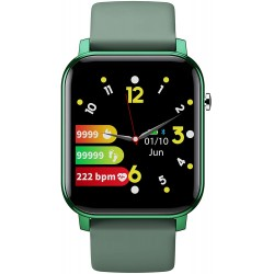 """GIZMORE GizFit 908 Full Touch 1.4"""" 3D Curved Display with Multiple Sports Mode, Blood Oxygen, Sleep & Fitness Monitoring, Long Lasting Up-to 15 Days & Unlimited Faces"""