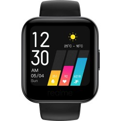 """Realme Fashion Watch 1.4"""" Large HD Color Display, Full Touch Screen, SpO2, Continuous Heart Rate Monitor, Black, Free Size"""