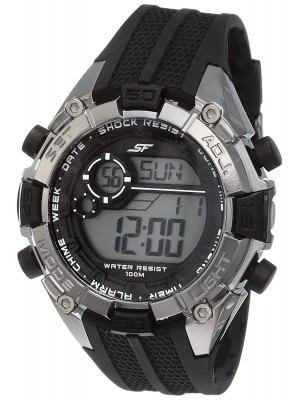 Sonata Ocean Series III Digital Grey Dial Unisex Watch -77026PP01J