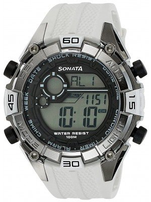 Sonata Ocean Series III Digital Grey Dial Unisex Watch -