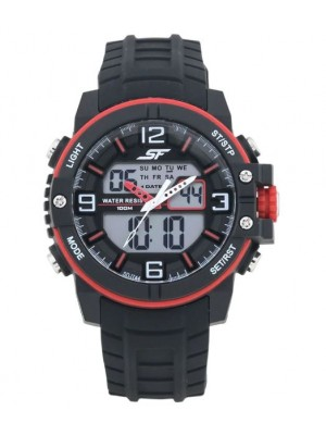 SONATA SF Pulse Analog-Digital Black Dial Men's Watch-77099PP01