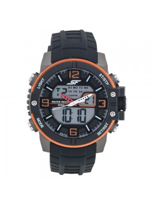 SONATA SF Pulse Analog-Digital Black Dial Men's Watch-77099PP02