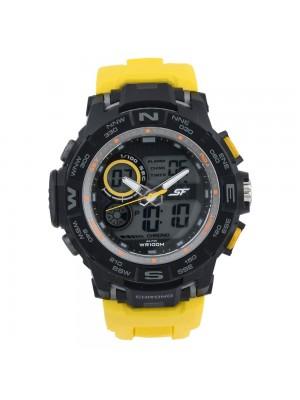 SONATA SF Neon Analog-Digital Black Dial Men's Watch-77104PP02
