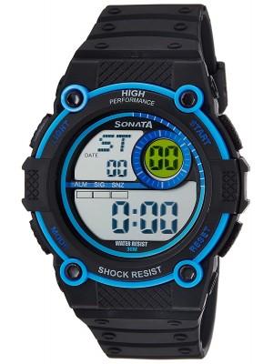 Sonata Digital Black Dial Men's Watch -NL77004PP03