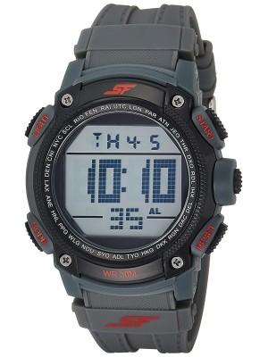 Sonata Fibre (SF) Digital Grey Dial Men's Watch