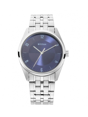 Titan Blue Dial & Analog Function & Metal Strap for Men-1729SM05