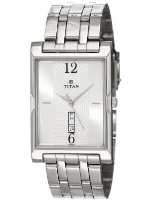 Titan Analog Watch  with Day & Date Function &  Stainless Steel Strap for Men-NL1641SM01