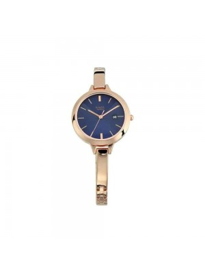 TITAN Raga Blue Dial Analog with Date Watch & Rose Gold Metal Strap  for Women-NL2578WM02