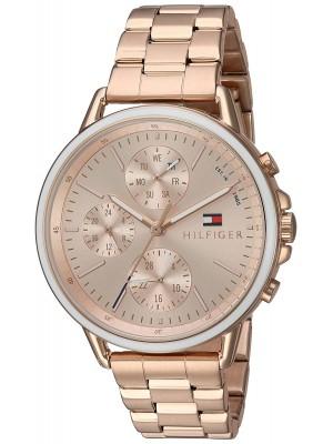 Tommy Hilfiger Women's Casual Sport Quartz Watch Strap, Rose Gold, 18 (Model: 1781788)